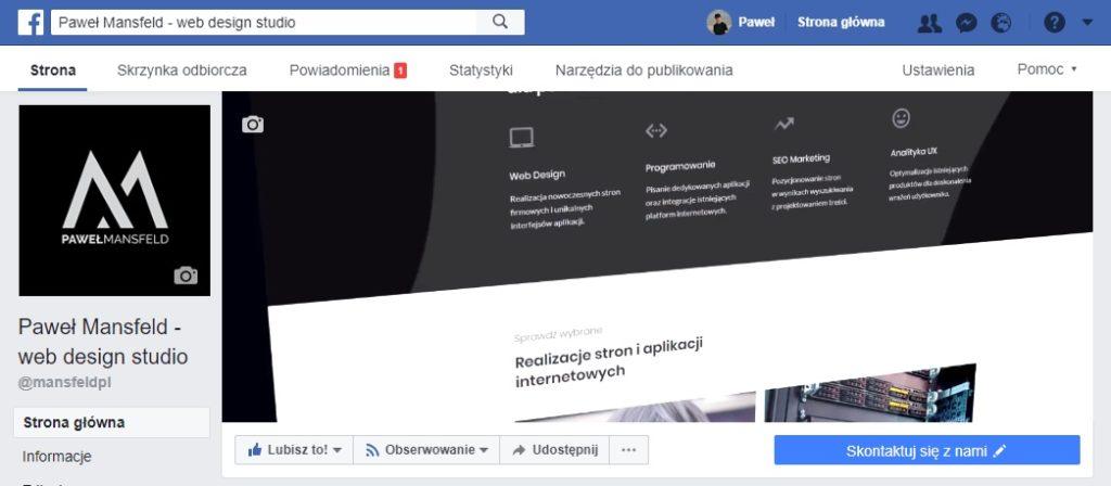 firma lokalna w social media - facebook