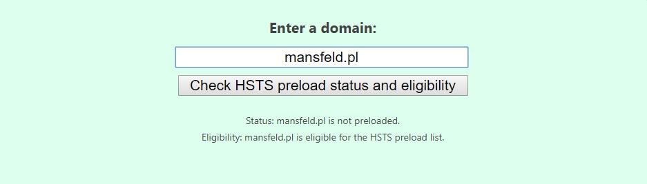 formularz dodawania domeny do hstspreload