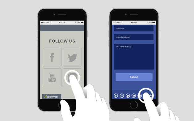 Trendy web design 2019 - ekrany dotykowe