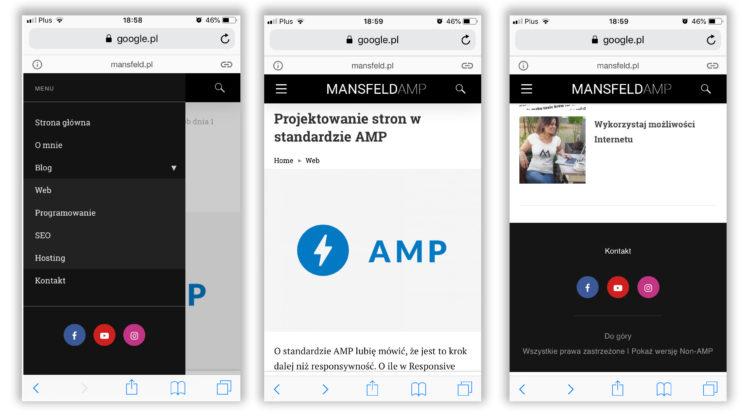 Przykład strony AMP