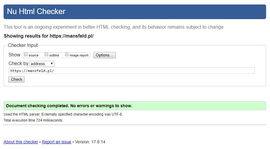 jakość stron www - w3c validator