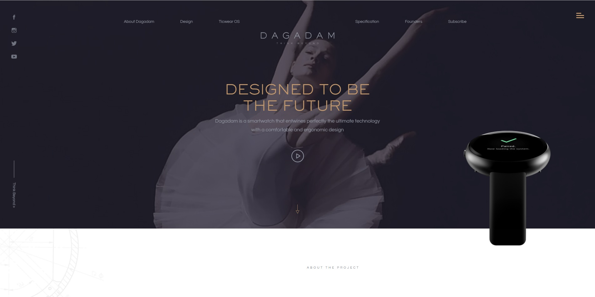 trendy web design 2018 - filmy ianimacje