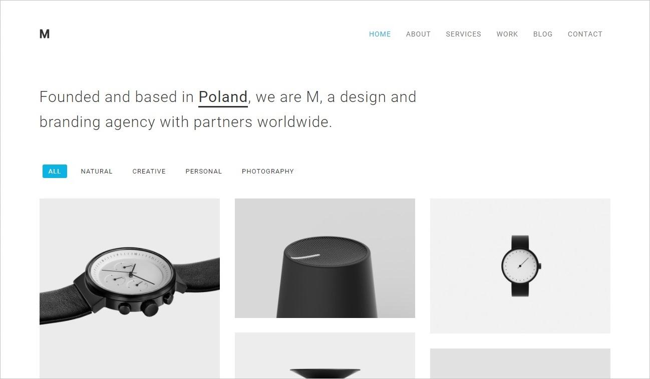 trendy web design 2018 - minimalizm 3