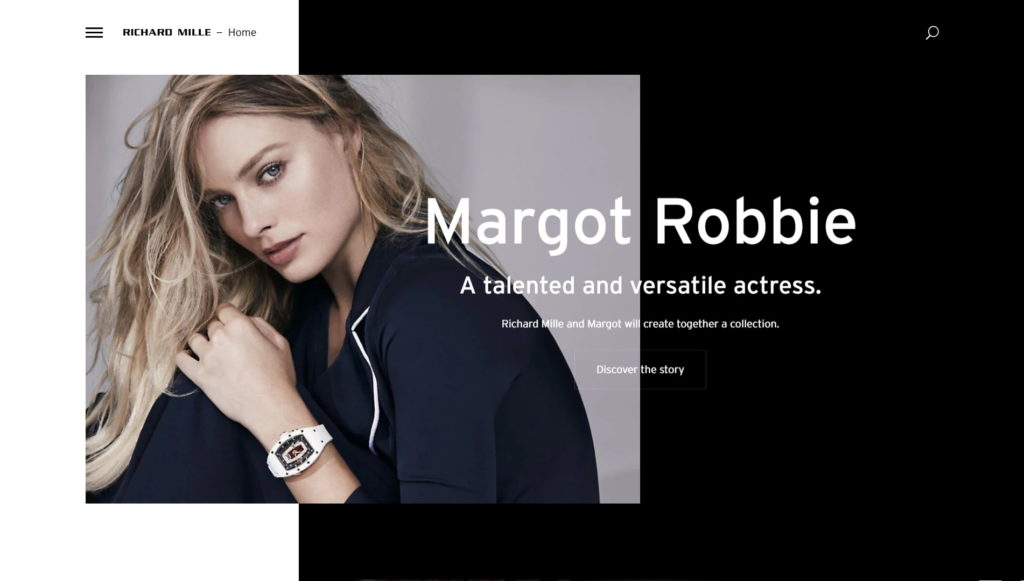 najładniejsze strony firmowe 2018 - richard mille margot robbie pawel mansfeld