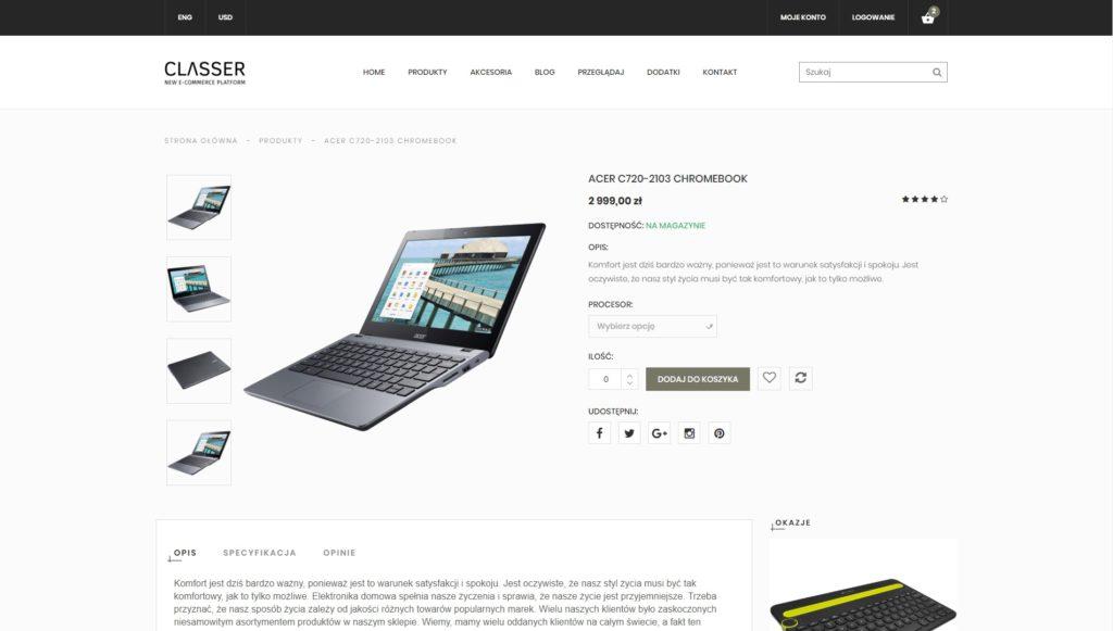 sklep internetowy amp - widok produktu