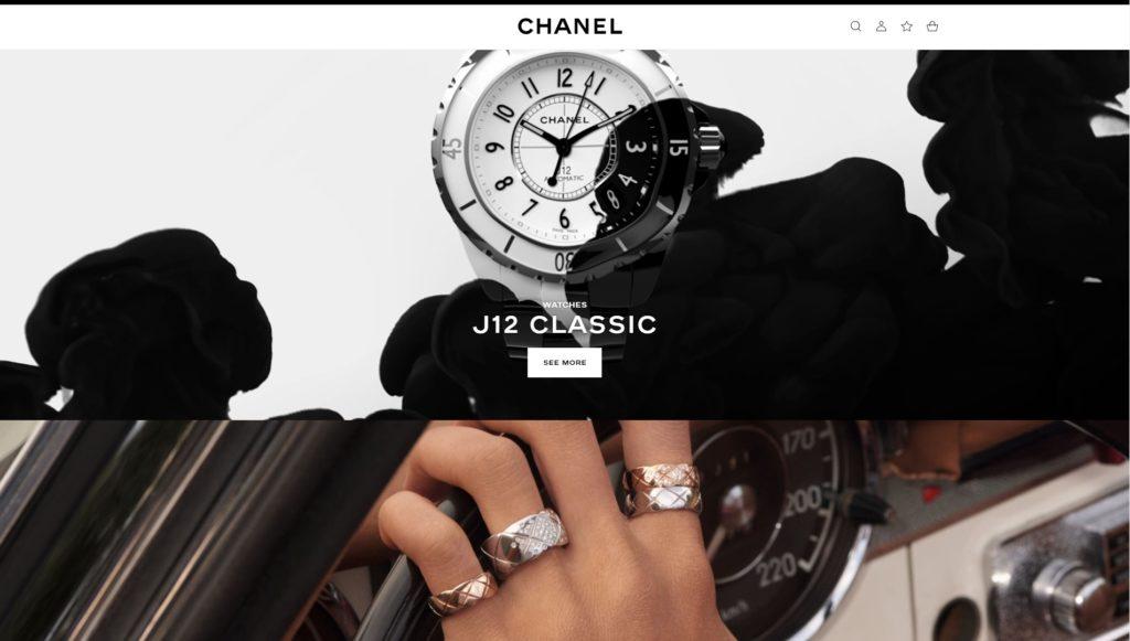 Trendy Web DEsign 2019 - Chanel