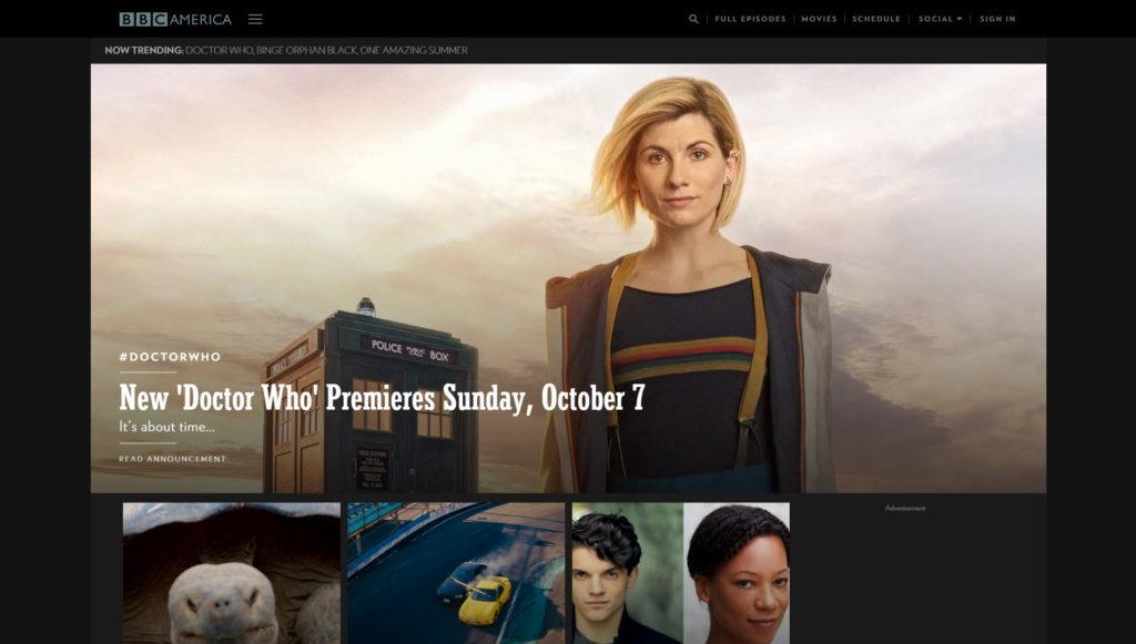 Najładniejsze strony internetowe WordPress - BBC America