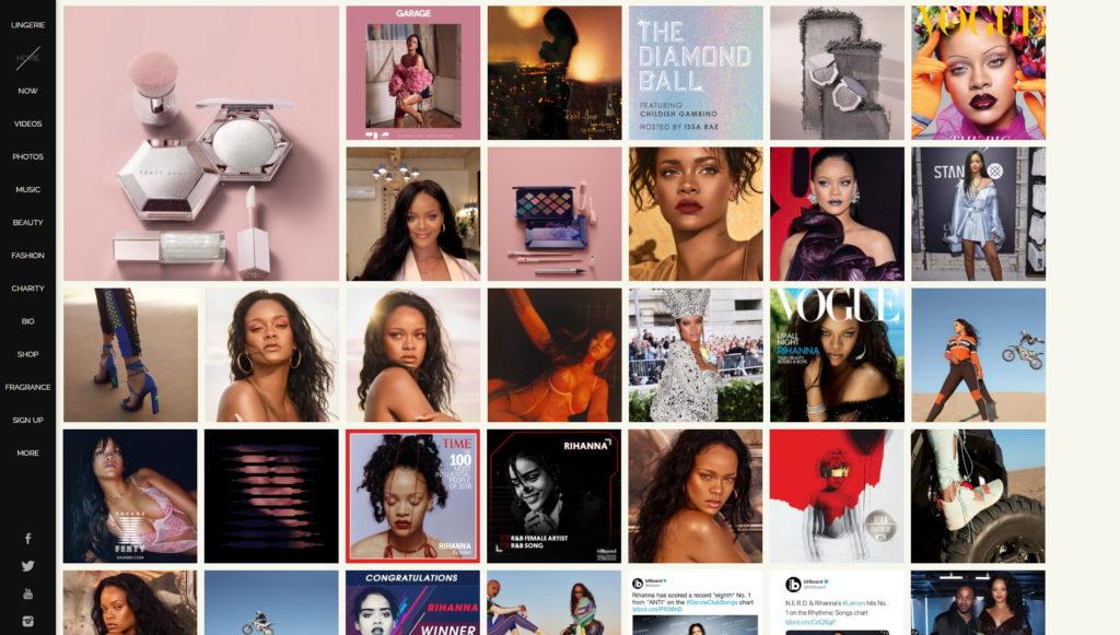 Najładniejsze strony internetowe WordPress - Rihanna