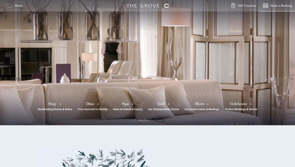 Najładniejsze strony internetowe WordPress - The Grove