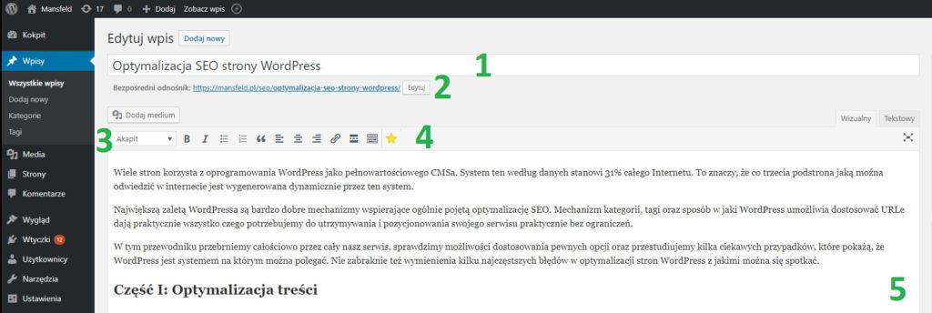 Optymalizacja SEO WordPress - treść - 1
