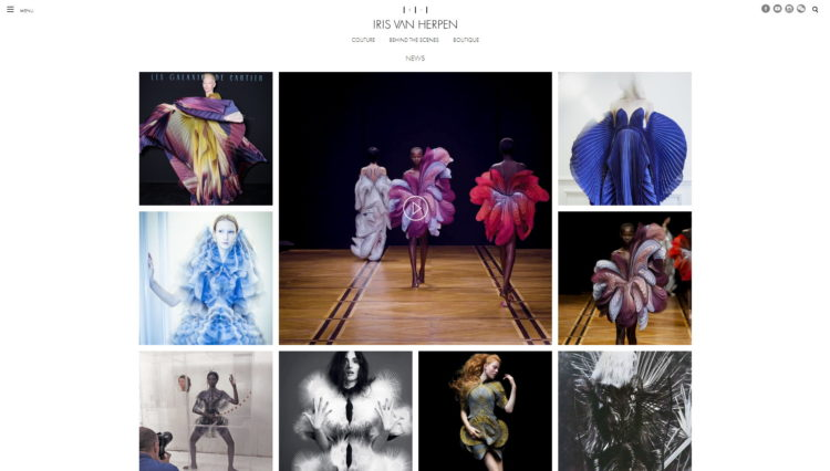 najładniejsze strony www 2019 - iris van herpen