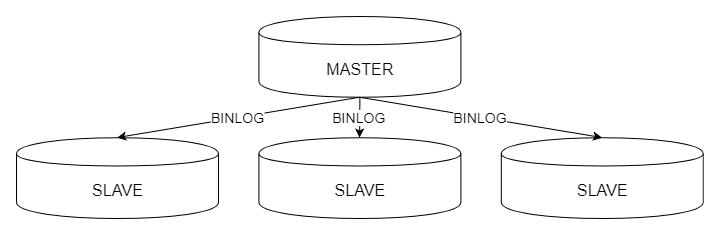 Schemat replikacji złożonej zwielu serwerów typu Slave